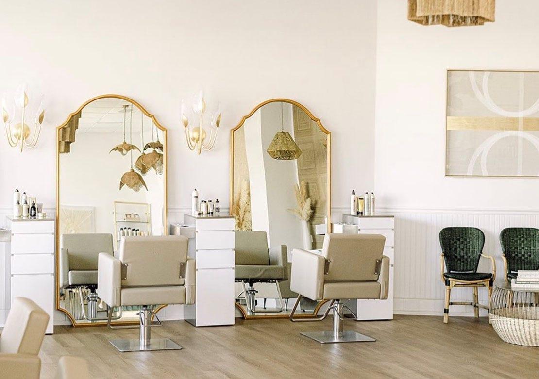 luxury salon layout