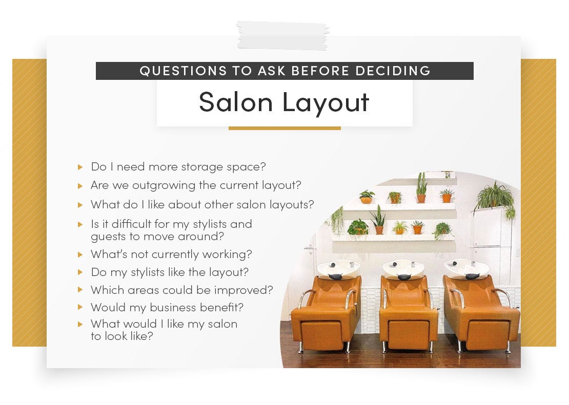 questions to ask deciding salon layout